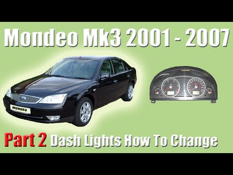 Part 2 Ford Mondeo MK3 How To Change The Dash Lights And Removing The Clocks