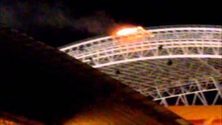 Incendio Estadio Nacional de Costa RIca - Inauguración juegos centroamericanos 2013
