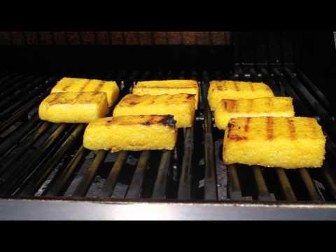 How to make baked polenta squares
