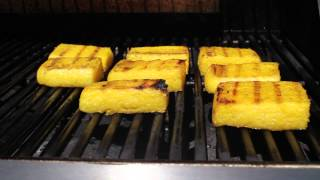 Polenta Squares With Blue Cheese Video - Easy Vegetarian Barbecue Idea
