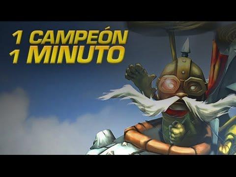 Corki - 1 CAMPEÓN EN 1 MINUTO - League of Legends Express