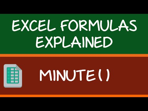 MINUTE Formula in Excel