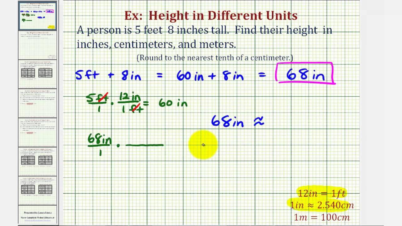 ex convert height in