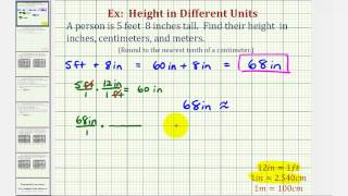 ex convert height in feet and inches to inches centimeters and meters