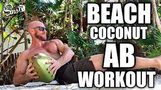 Beach Coconut Abdominal Workout