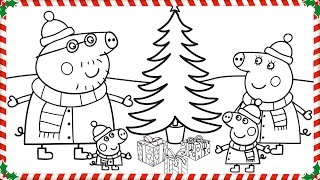 Peppa Pig Christmas Coloring Book Pages Kids Fun Art Coloring Videos For Kids