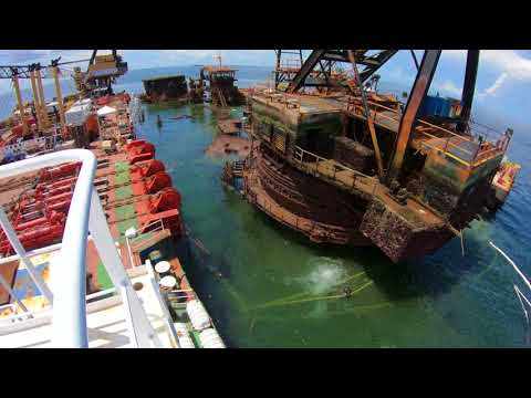 Resolve's salvage of the heavy lift derrick barge DB1