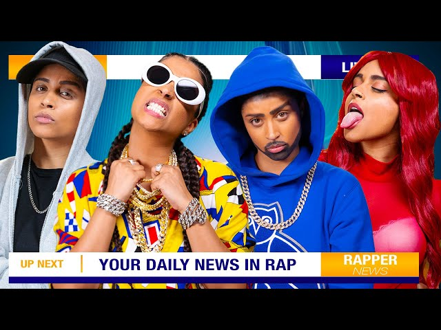 """If Rappers Were News Reporters"""" by IISuperwomanII on YouTube"""