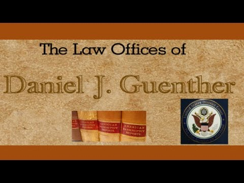 http://guentherlaw.com Hi, I'm Dan Guenther, a bankruptcy attorney with offices in Charles, St. Mary's and Prince George counties in Maryland. Over the past 30 years, I have helped hundreds of Maryland...