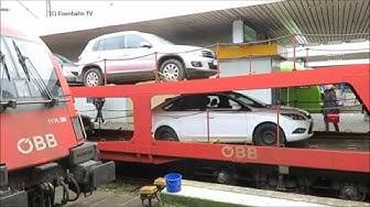 Eisenbahn TV  - Ankunft und Entladung eines Autoreisezug der ÖBB in Hamburg Altona