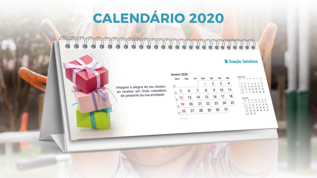 Calendario Personalizado 2020.Calendario Personalizado Doacao Solutions 2020