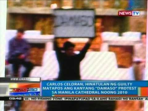 Carlos Celdran, hinatulan ng guilty matapos ang kanyang 'Damaso' protest sa Manila Cathedral
