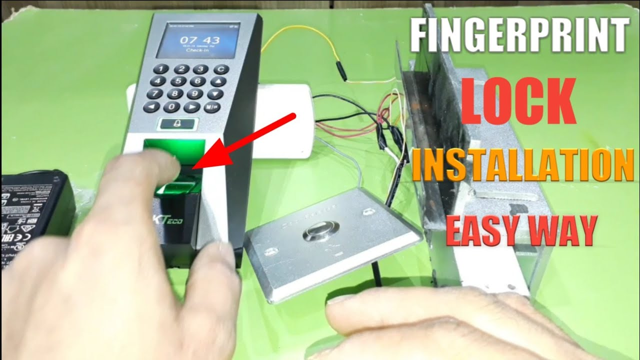 Zkteco F18 Time Attendance Acces Control Fingerprint Lock Full installation on