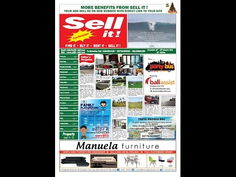 Sell it! Newspaper Bali . December 2015. 25 th Edition