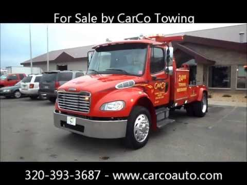 freightliner century 12 ton tow truck wrecker for sale by carco towing youtube. Black Bedroom Furniture Sets. Home Design Ideas