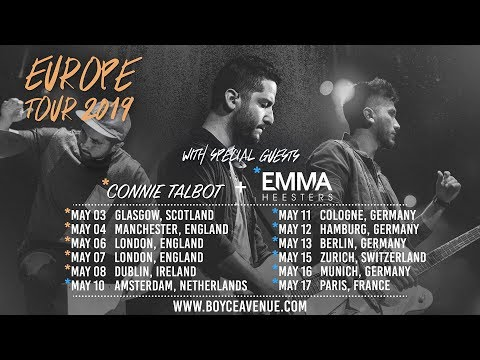 europe-tour-2019-|-tickets-on-sale-|-boyce-avenue-(with-connie-talbot-&-emma-heesters)