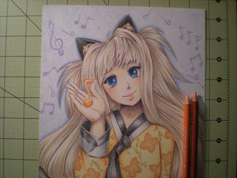 PrismaColor Coloring Pencils - Speedpaint - Orange Music Note
