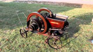 1914 New Holland 4 HP Antique Gas Engine - Starting - Video 1