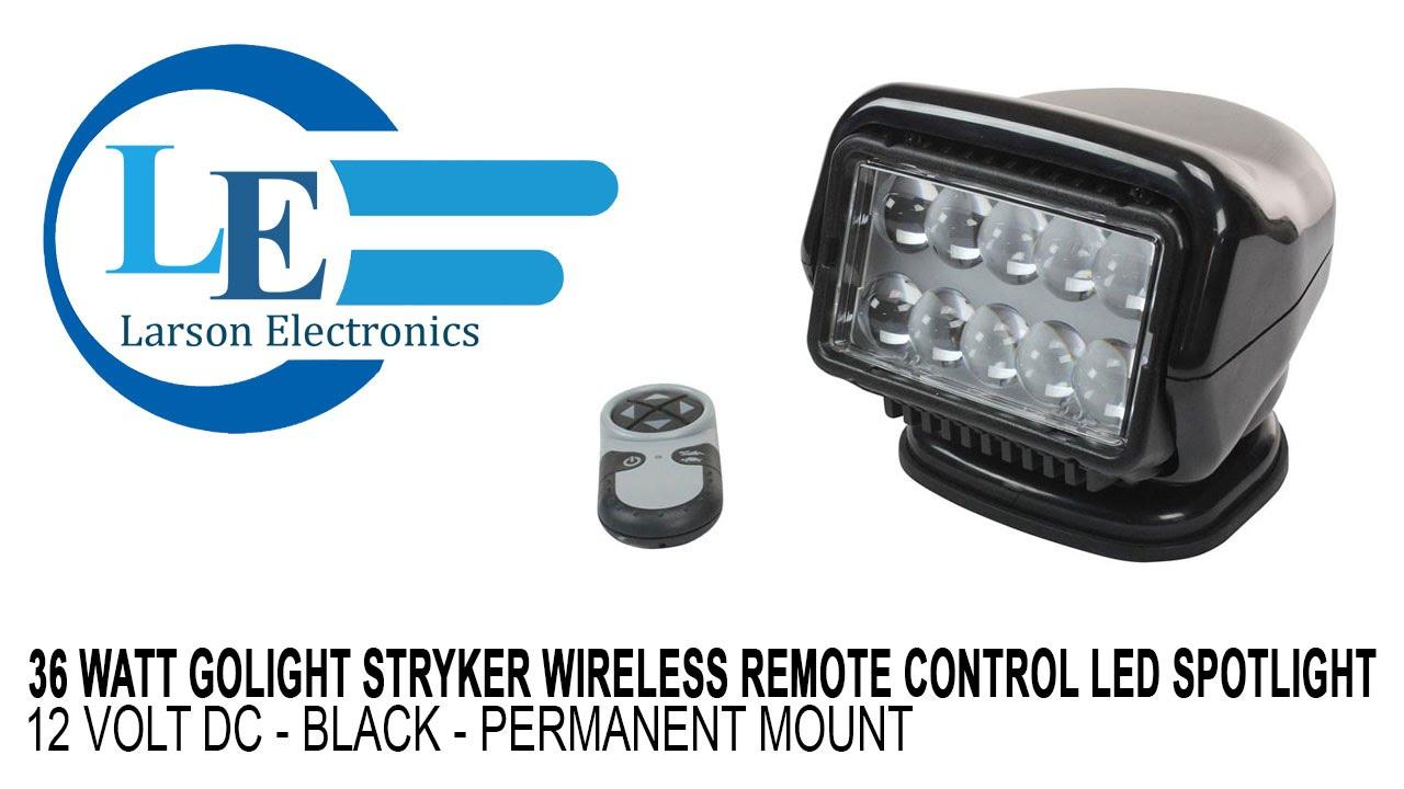 Black Halogen Permanent Mount Dual Wireless Remotes Golight GT Series