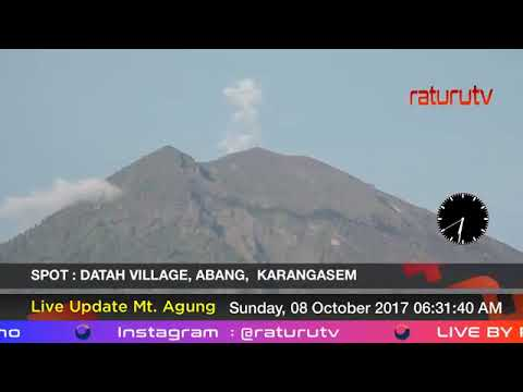 Mount Agung the volcano in Bali live real time ( Gunung Agung Recorded Version ) 08102017