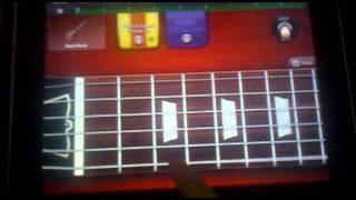 Black Sabbath Iron Man Guitar Tutorial iPad GarageBand
