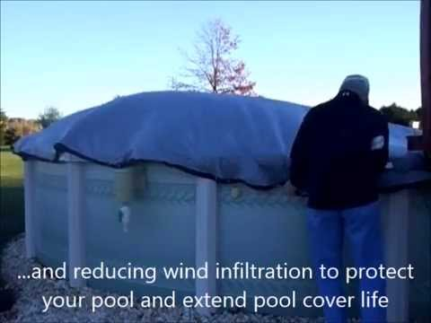 "24"" Secure Fit Pool Cover Clip - in action against high winds"