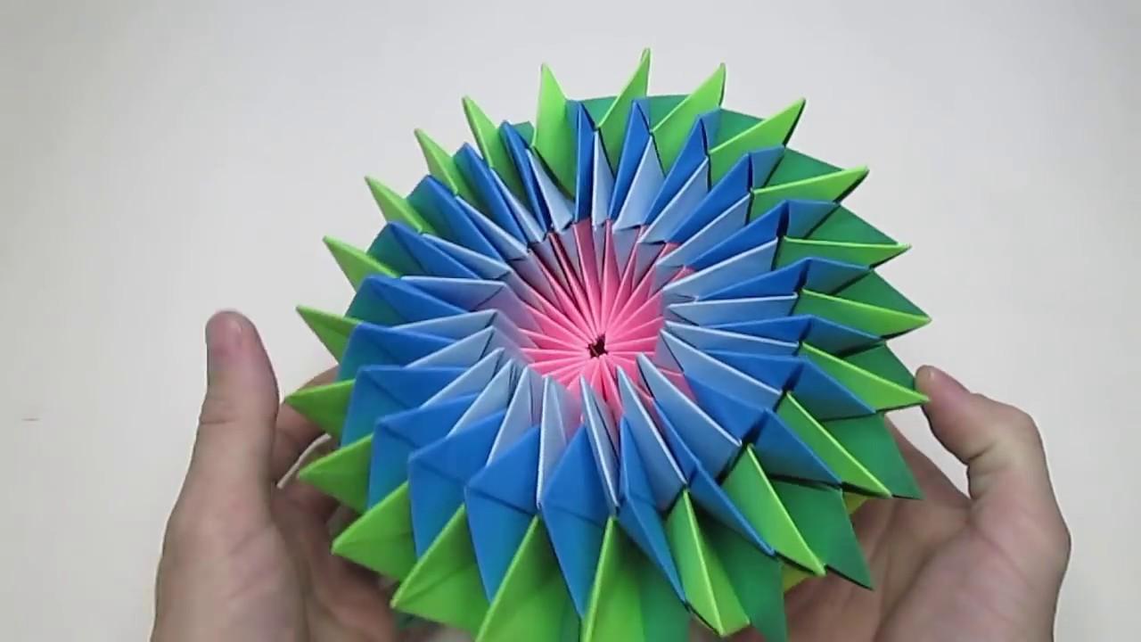 万華鏡 簡単 折り紙