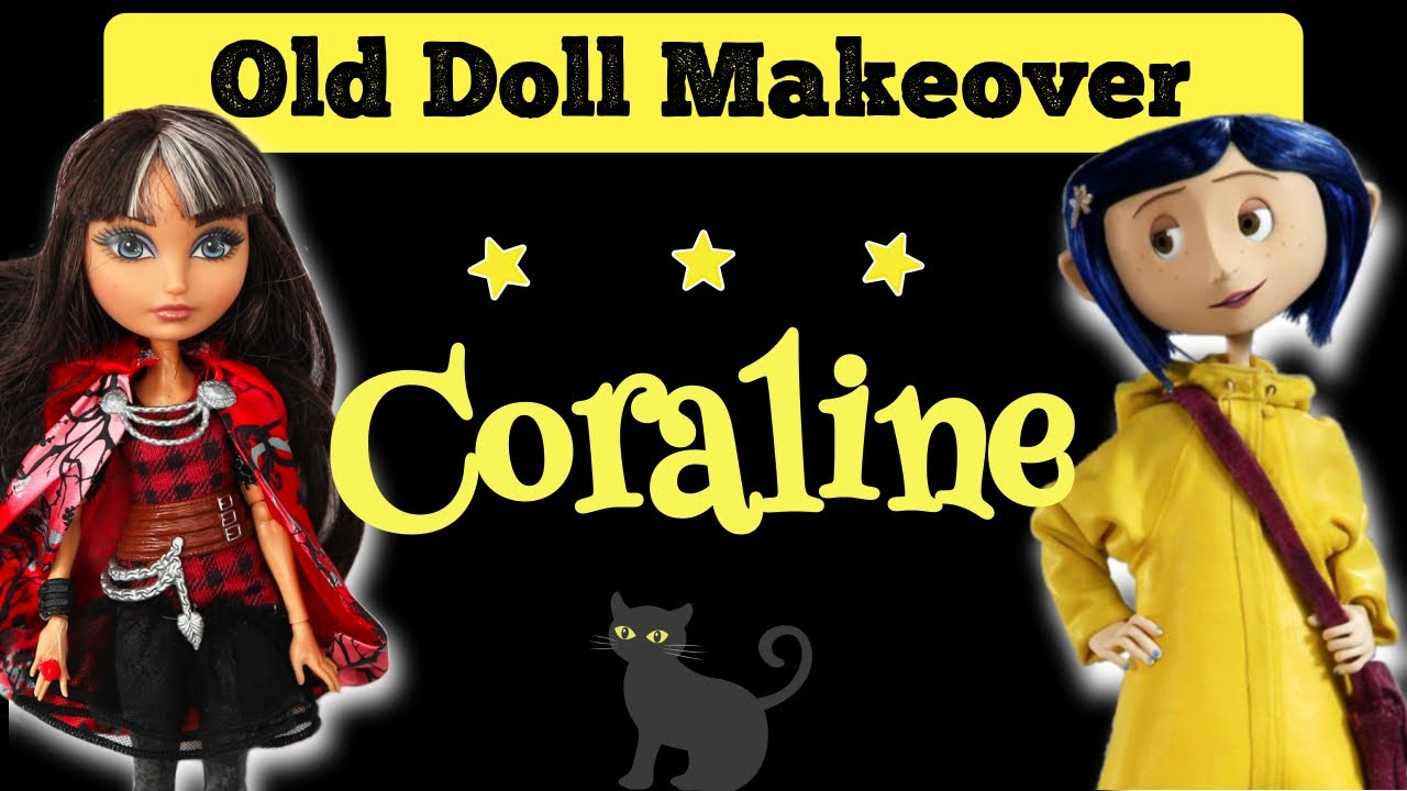 Making Coraline Doll Ever After High Doll Repaint By Poppen Atelier Youtube