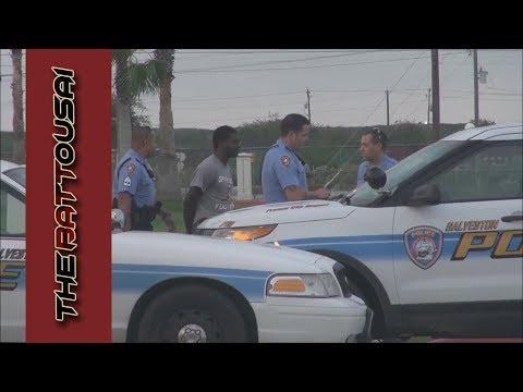 1st Amendment Audit Galveston PD Illegal Arrest PT 1 of 4 11/4/2015