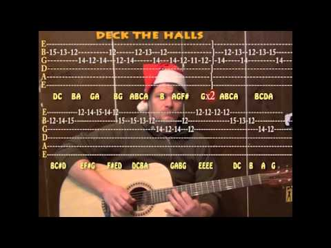 how to play deck the halls on guitar