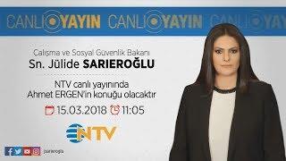 Bakanımız Sayın Jülide SARIEROĞLU NTV Canlı Yayınında Ahmet ERGEN'in Sorularını Yanıtladı