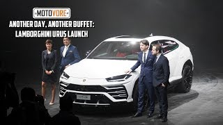 Another day, another buffet: Lamborghini Urus Mumbai press launch