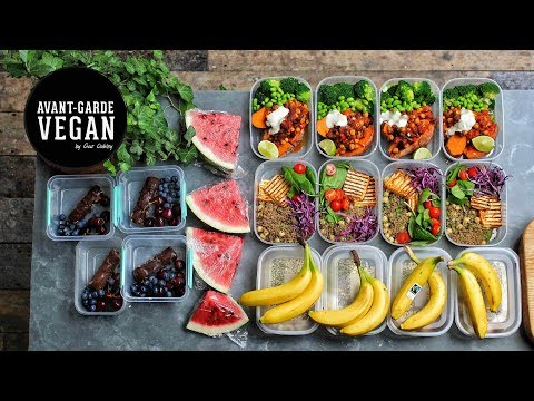 HIGH PROTEIN VEGAN MEAL PREP | @avantgardevegan by Gaz Oakle