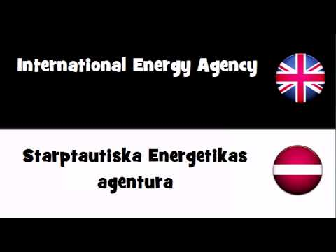 VOCABULARY IN 20 LANGUAGES = International Energy Agency