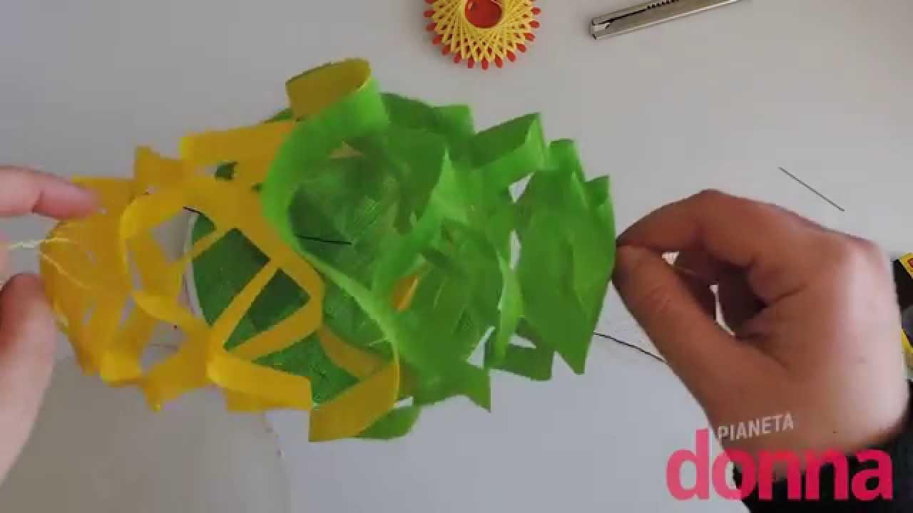 Festone di carta fatto a mano tutorial youtube for Festoni natalizi fai da te