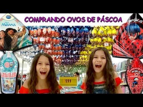 COMPRANDO OVOS DE PÁSCOA - LADYBUG, MOANA, FROZEN E MUITO MAIS