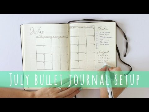 bullet journal monthly setup july plan with me hello deborah youtube. Black Bedroom Furniture Sets. Home Design Ideas