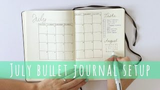 Bullet Journal Monthly Setup July | Plan With Me | Hello Deborah
