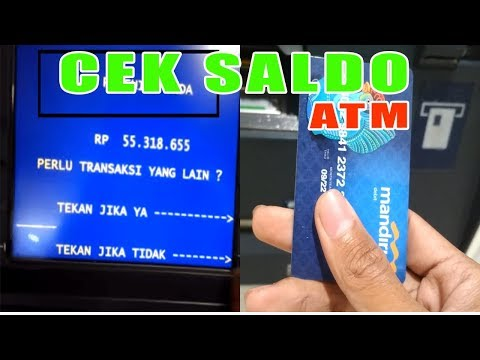 Cara CEK SALDO ATM BANK MANDIRI