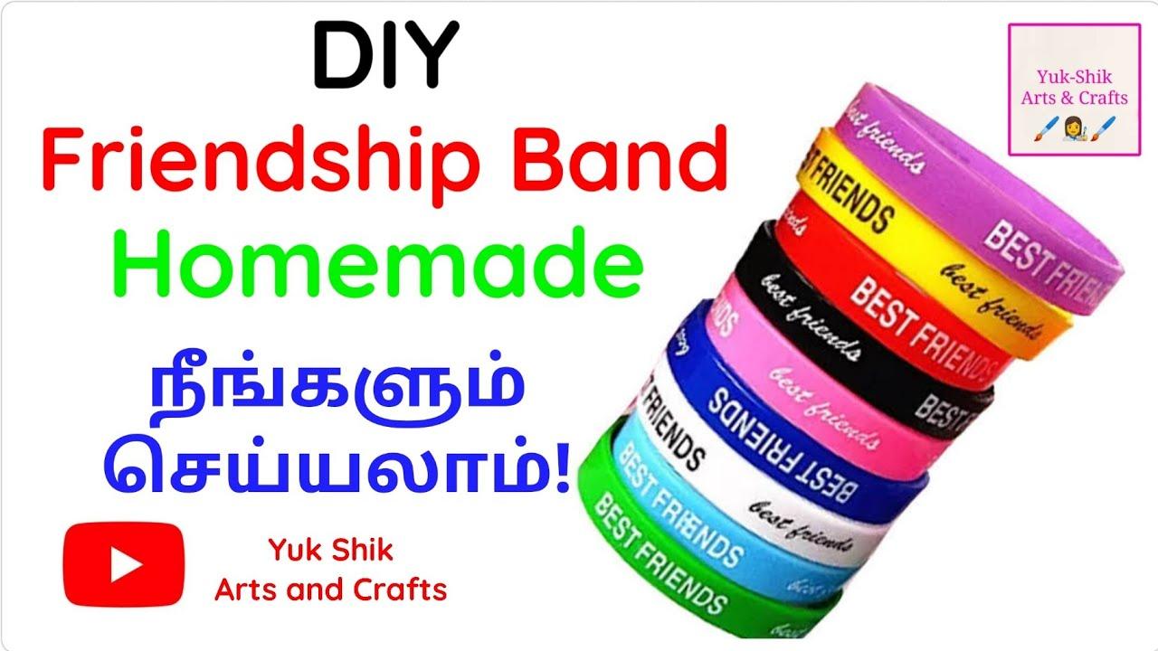 diy friendship band/homemade friendship band/yuk shik arts and crafts