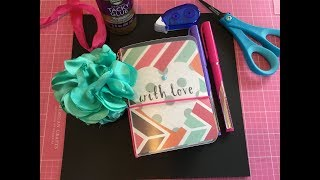 DIY Dollar tree pocket size travelers notebook// no laminator needed