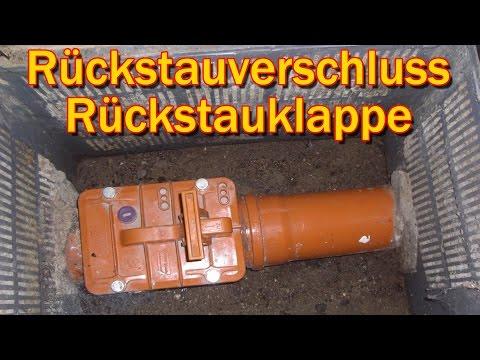 RÜCKSTAUVERSCHLUSS / RÜCKSTAUKLAPPE -Gegen KACKA im Keller !!!
