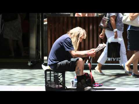 The other side of Sydney: the poor and the homeless.