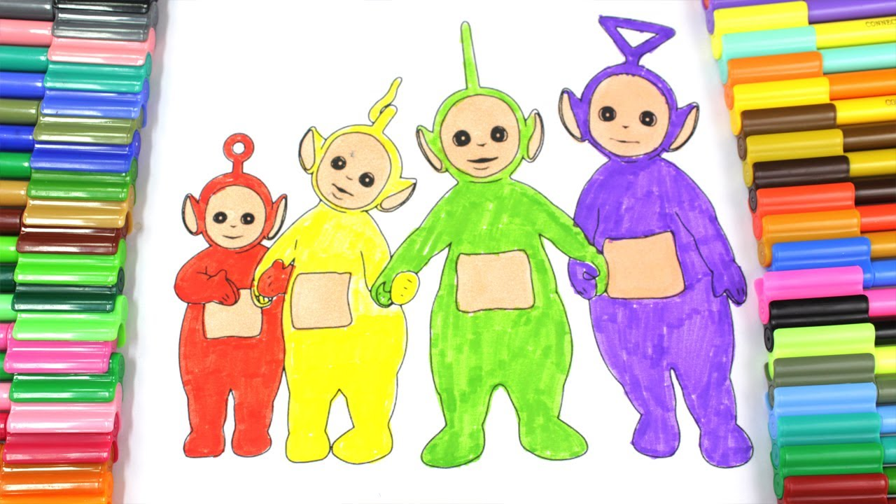 Learn Colours For Children With Teletubbies Colouring Pages,Learn ...