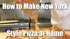 New York Style Pizza Recipe - How to Make NY Style Pizza at Home