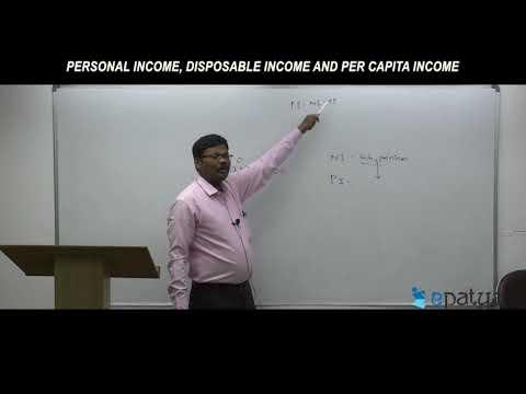 Personal Income, Disposable Income And Per capita Income