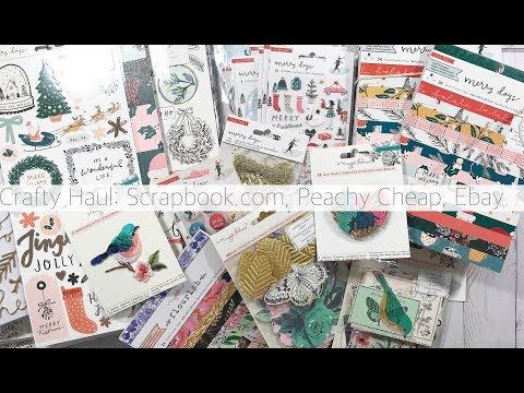 CRAFTY HAUL: SCRAPBOOK.COM, EBAY, PEACHYCHEAP | CRATE PAPER MERRY DAYS