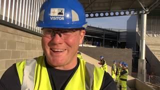 First seats installed at Community Stadium