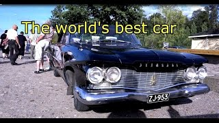 Plymouth V8 monster engine -old car- Mustalahden satama Tampere