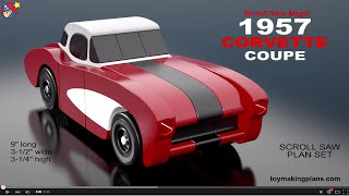 Wood Toy Plans - 1957 Corvette Coupe